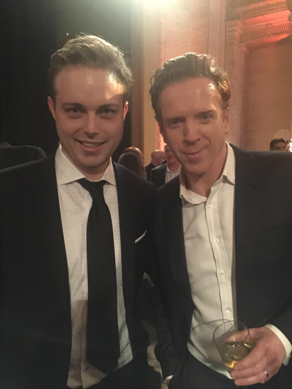 "With Damien Lewis at the season 2 premiere of ""Billions"""