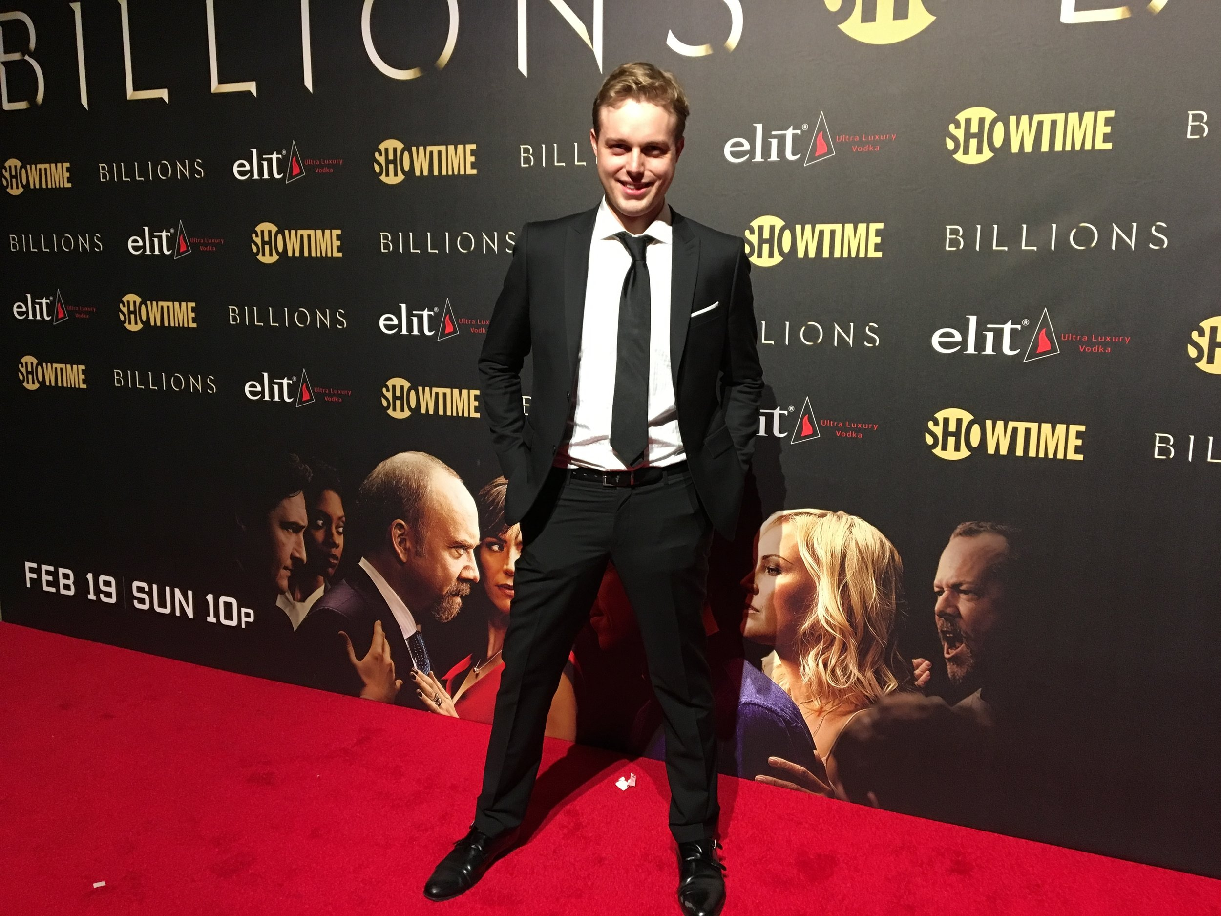 "At the season 2 premiere of ""Billions"""