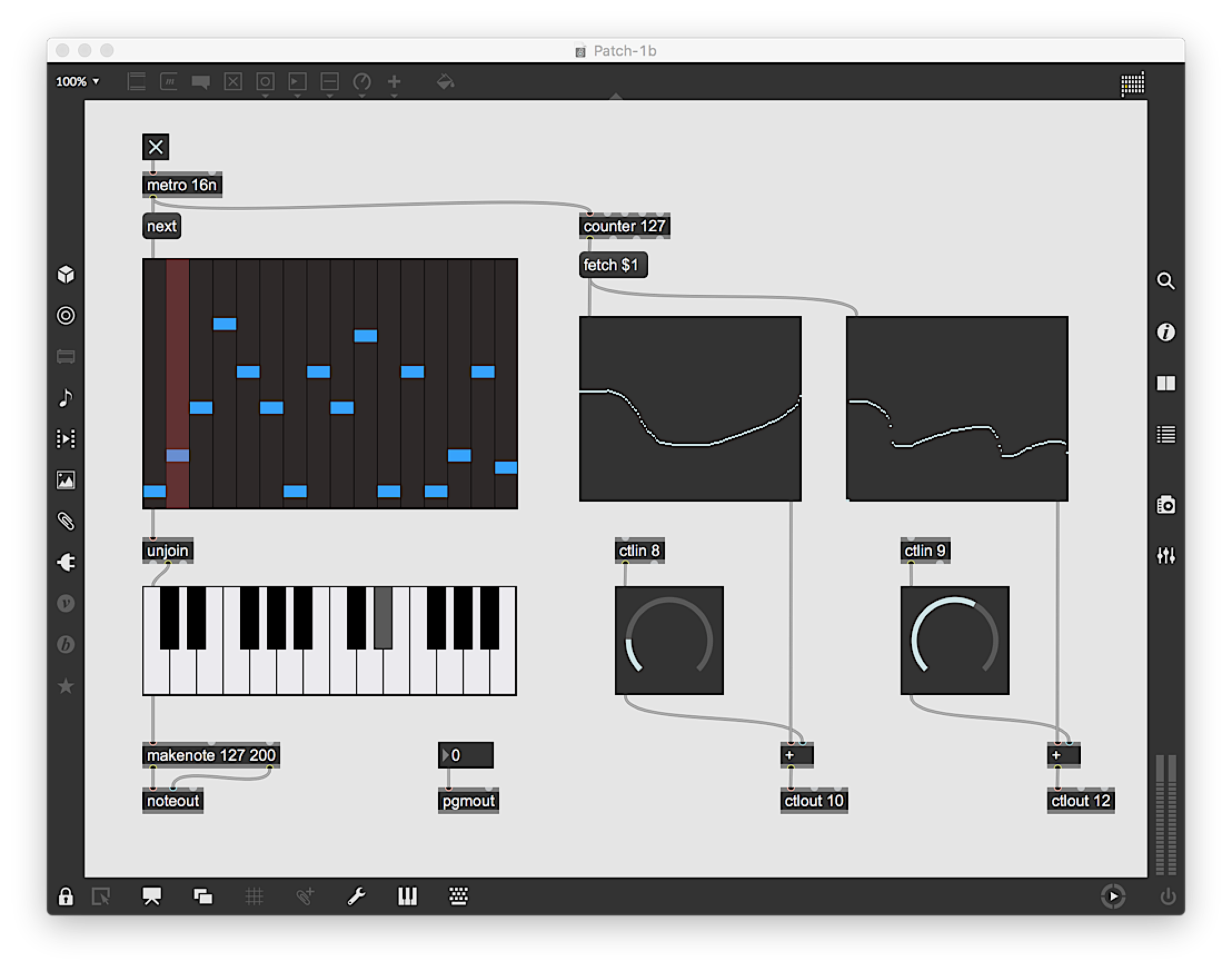 Max enables interactive sounds via a complex (yet playful) interface. Imagine a visual programming language designed for textual synthesis.