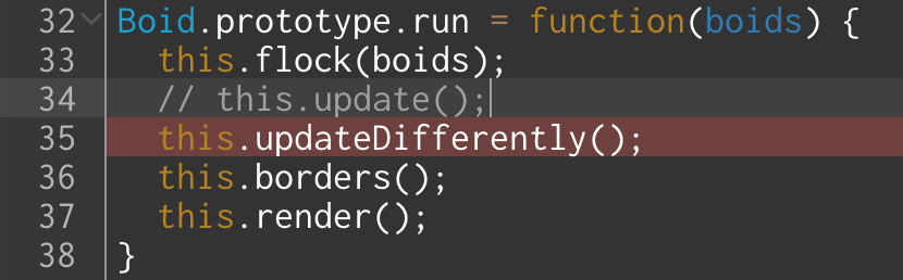 Temporarily commenting out one function call in favor of another