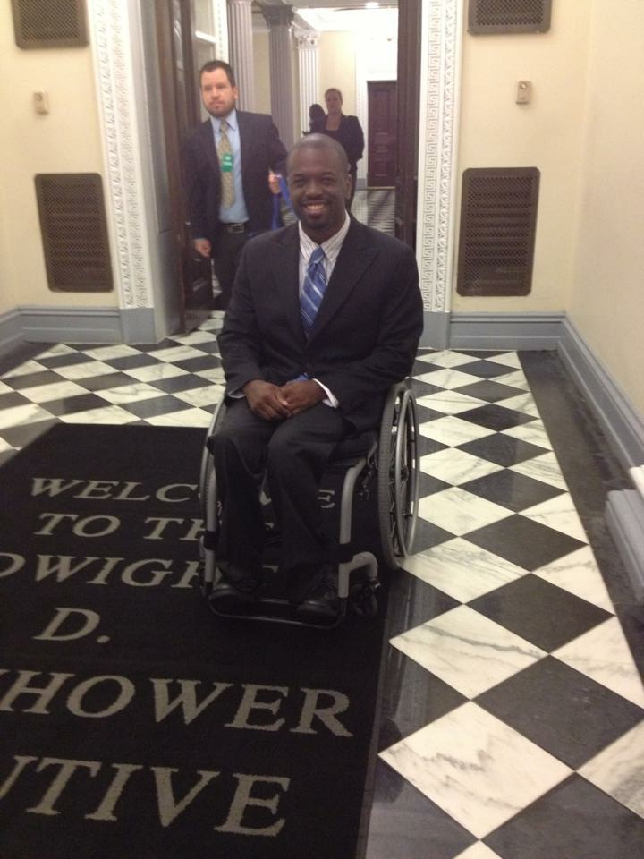 Eric M. Harris, J.D. at the Eisenhower Executive Office Building at the White House