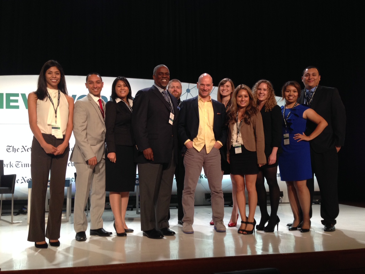 Professor Mark T. Harris, Esq. and UC Merced Students with Andrew McAfee