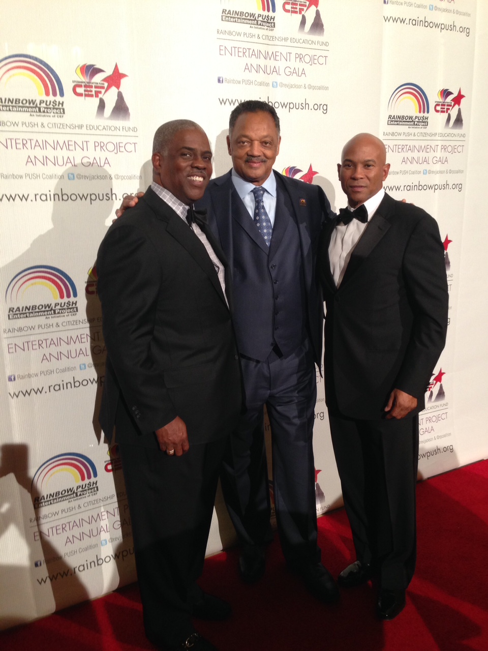 Professor Mark T. Harris, Esq. with The Honorable Allen W. Warren and The Honorable Reverend Jesse L. Jackson, Sr.