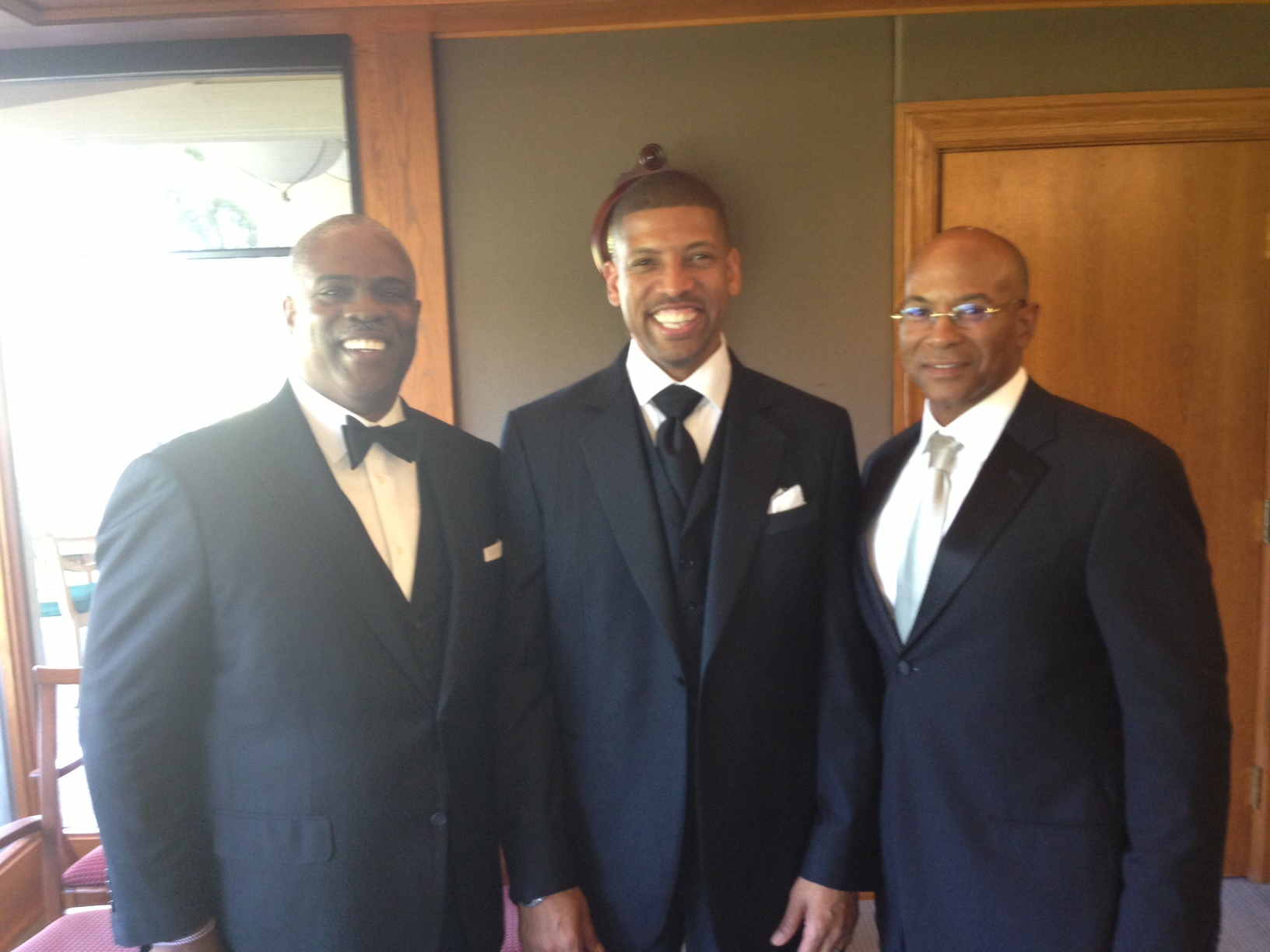 Professor Mark T. Harris, Esq. with The Honorable Mayor Kevin Johnson of Sacramento and Councilman Allen W. Warren