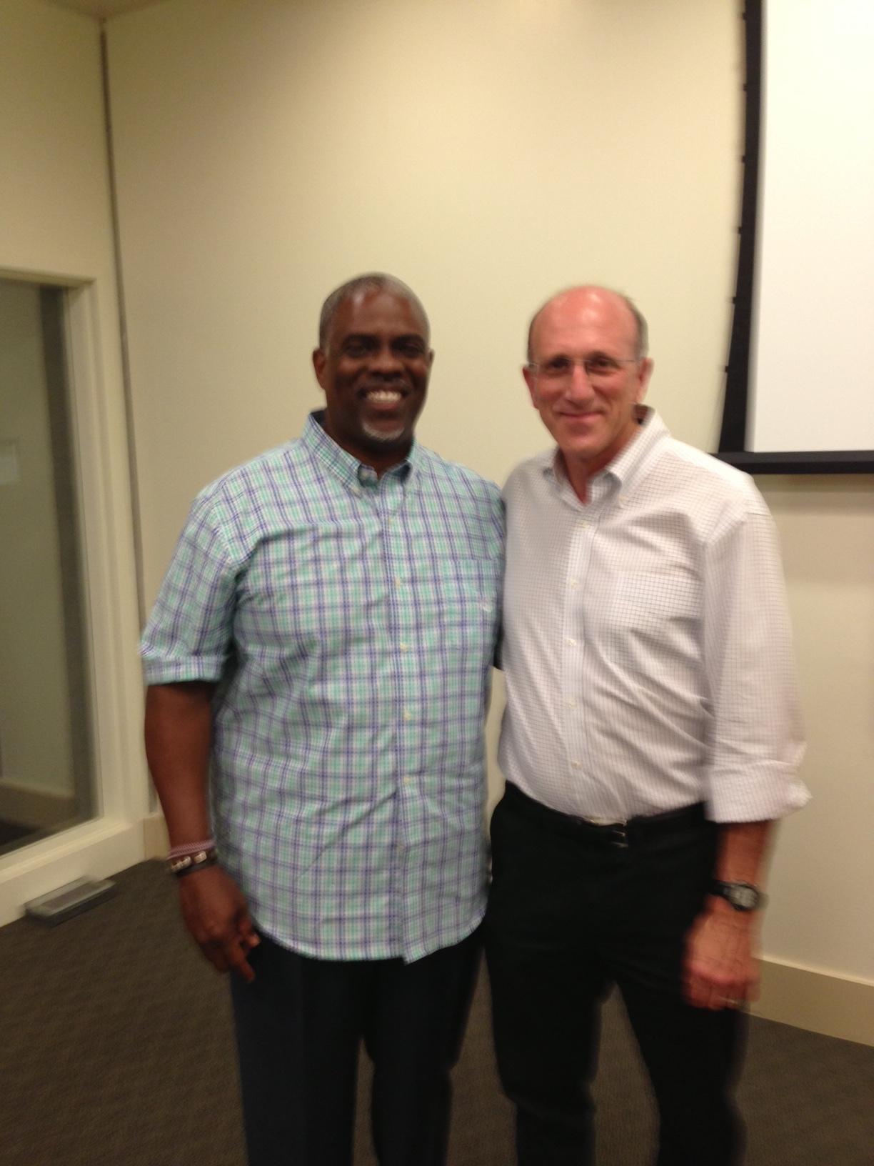 Professor Mark T. Harris, Esq. with Councilman Jay Schenirer of Sacramento