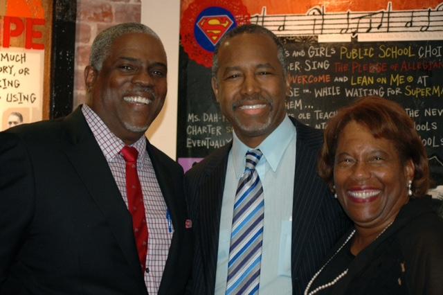 Professor Mark T. Harris, Esq. and Dr. Marianna Harris EdD. with Dr. Ben Carson