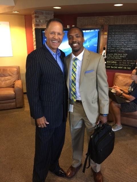 Martin T. Harris with Dr. Pastor Phillip G. Goudeaux