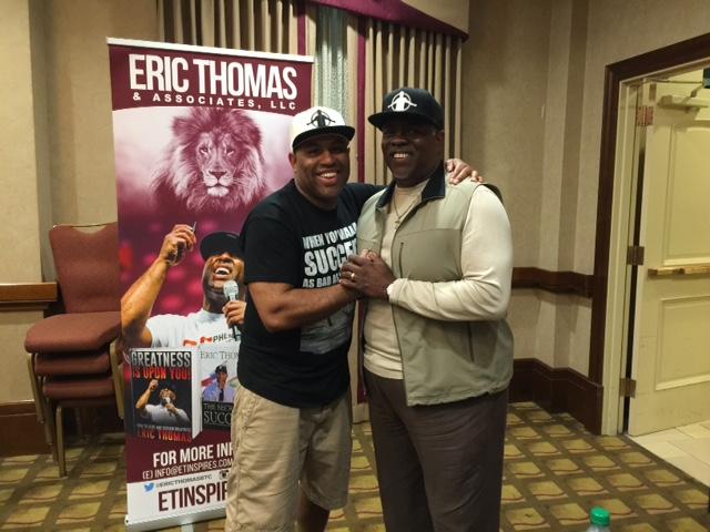 Professor Mark T. Harris with Dr. Eric Thomas