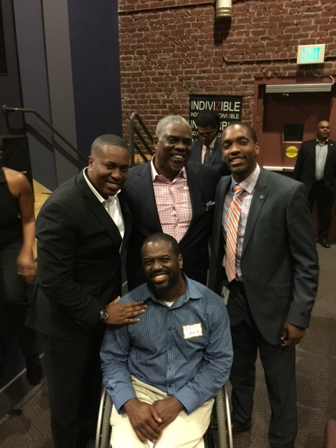 Professor Mark T. Harris, Esq.; Eric M. Harris, J.D.; and Martin T. Harris with Christopher Johnson
