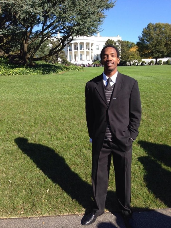 Martin T. Harris in front of the White House