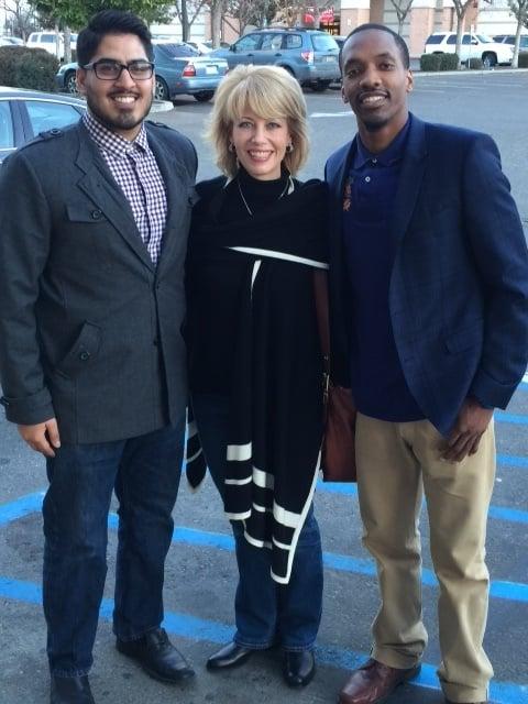 Sukhman Sekhon and Martin Harris with The Honorable Mayor Ashley Swearengin