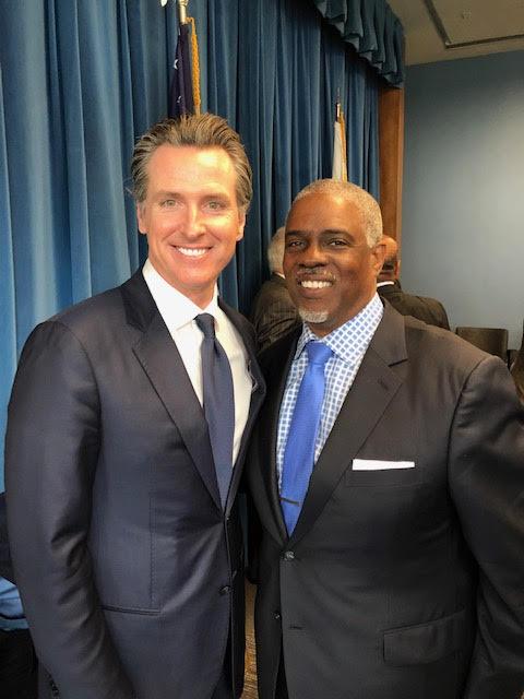 Governor Newson and Mark Harris