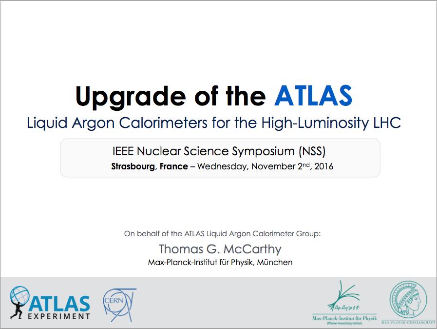 IEEE Nuclear Science Symposium, November 2016