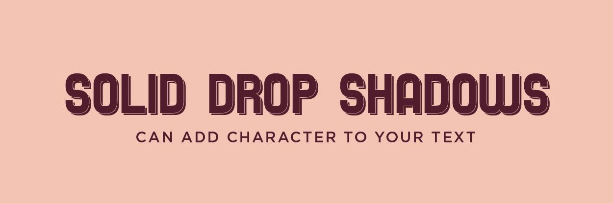 Hard Edge Drop Shadow