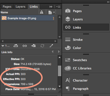 How to find the Image Resolution of a photo in InDesign