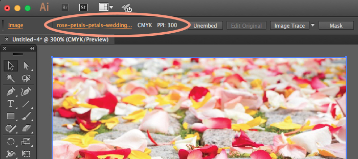 How to find the image resolution of a photo in Illustrator.