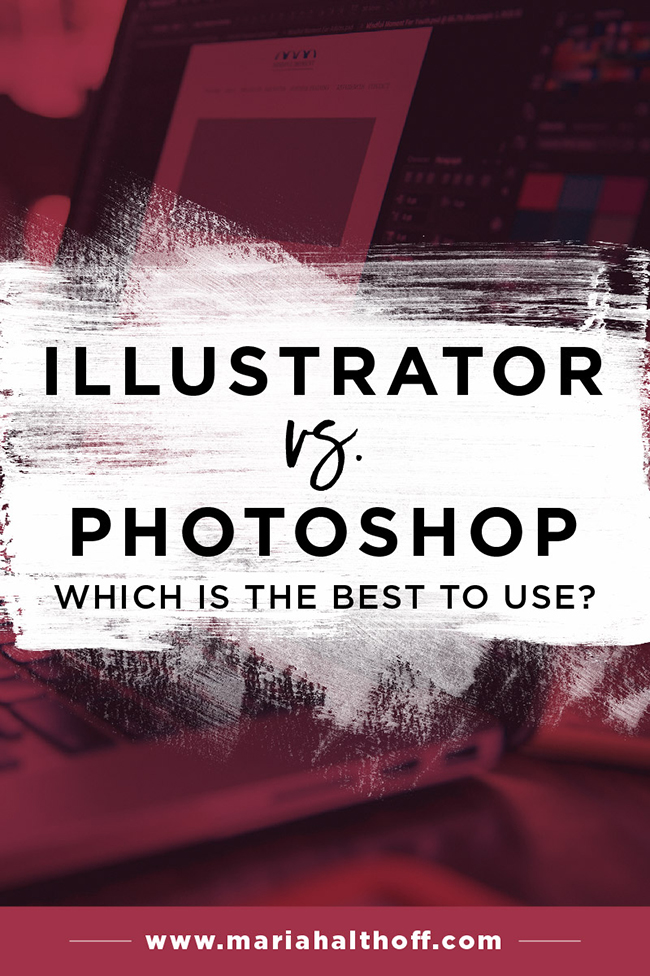 Should you be using Adobe Illustrator or Photoshop to create graphics for your business or blog? I've put together a side-by-side comparison for you to easily decide which program is best for you!