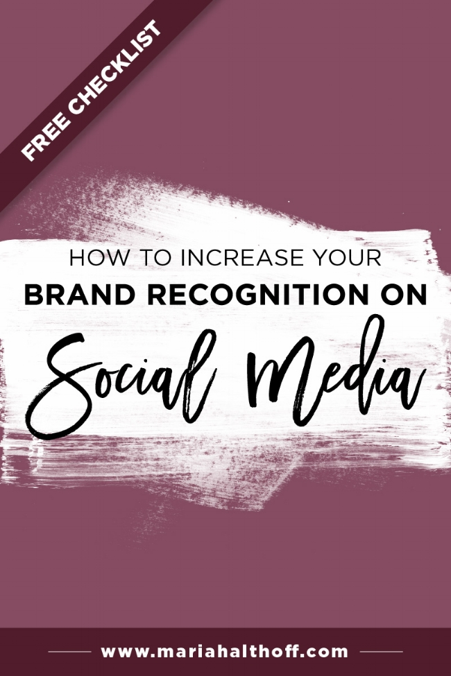 By creating consistent and cohesive graphics for your social media posts and profiles, you'll quickly increase your brand recognition on social media and turn your followers into raving fans. I've outlined a few easy steps you can take to do just that, plus, I've added a FREE checklist you can download and save for later!