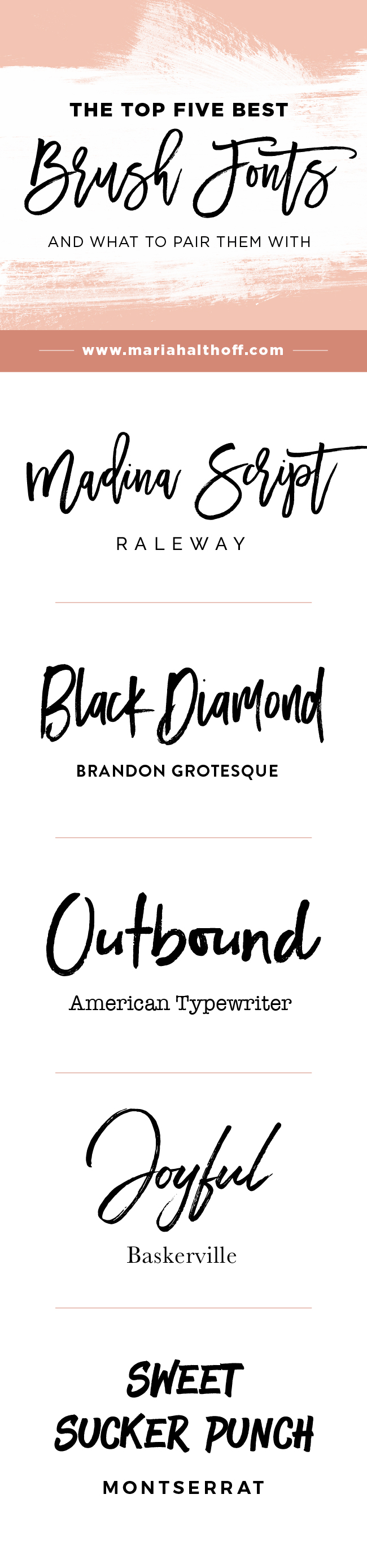 The Top Five Best Brush Fonts and How to Use Them — Mariah