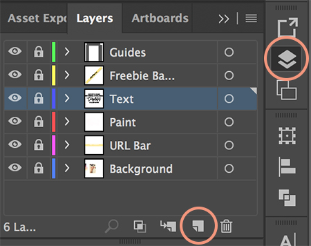 Adding a new layer in Illustrator to create social media templates