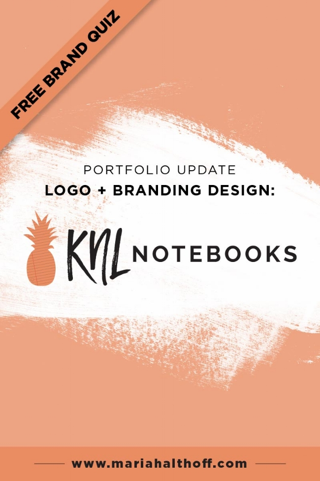 It's that time again where I update you on one of my recent branding projects! This time, KNL Notebooks. Take a look and let me know what you think!