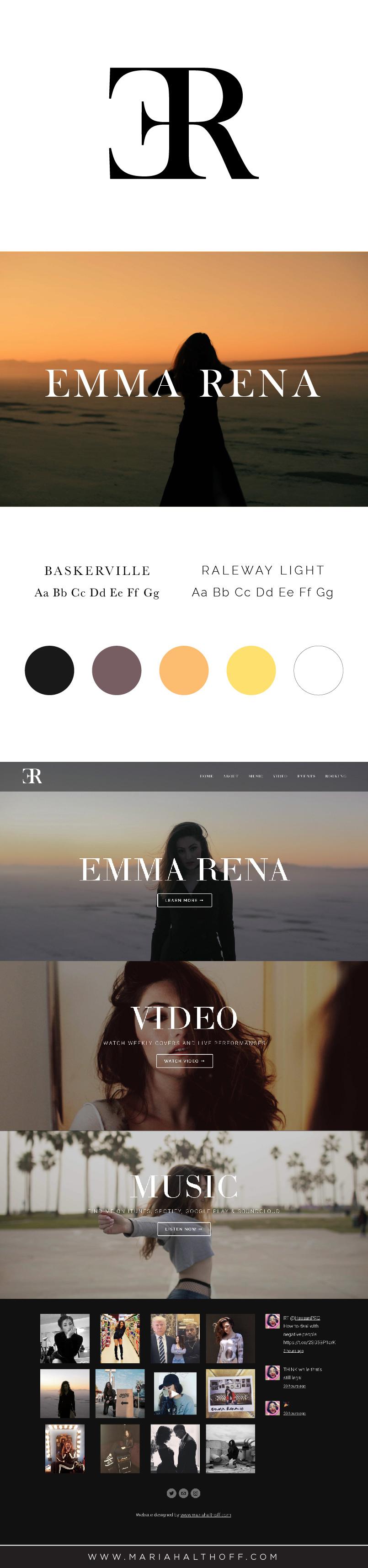 Logo, Branding and Website design, classic, modern, grunge, dark branding with Squarespace website design.