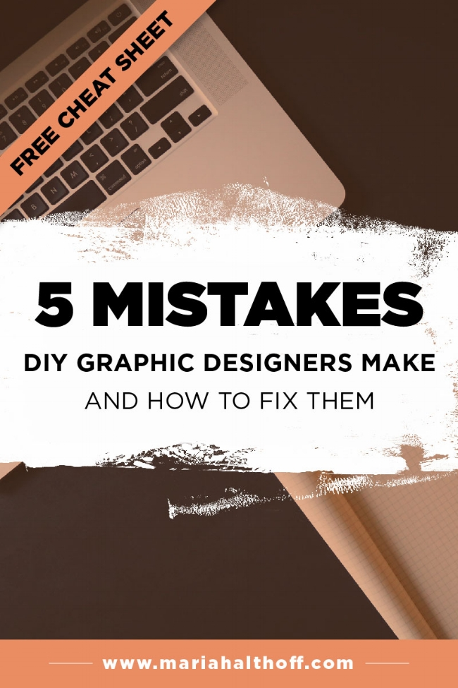 If you DIY your own graphics, this post is for you! Avoid these mistakes while learning graphic design and you'll immediately start looking like a pro designer yourself!