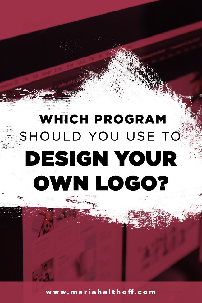 Did you know that although there are tons of options when choosing graphic design programs, there's one program, in particular, you should ALWAYS use for logo design? Click through to find out which one it is!
