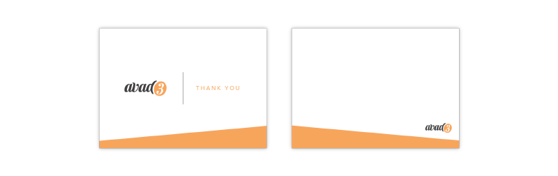 Thank you notes made in Adobe Illustrator