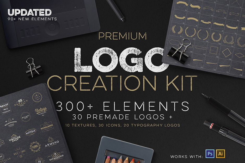 Design your own logo without having to come up with a custom design