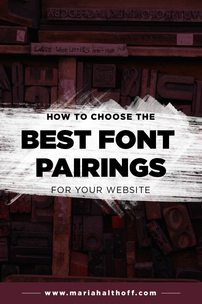 How To Choose The Best Font Pairings For Your Website