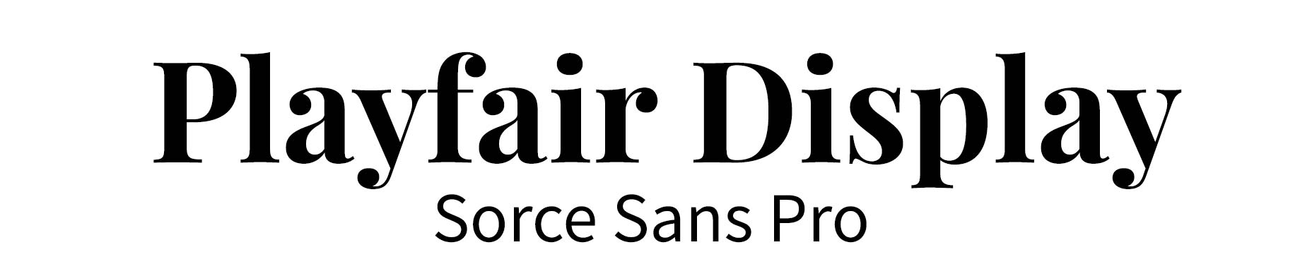 Playfair Display Font Pair