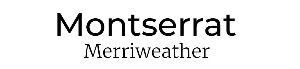 Montserrat Font Pair