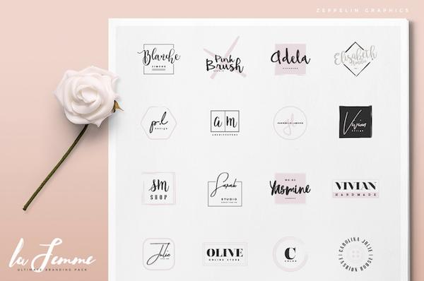 Feminine Branding Pack