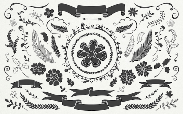 Floral Watercolor Vectors