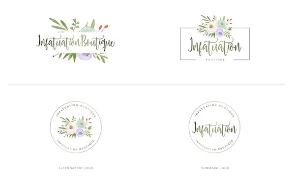 Watercolor Premade Branding Logos