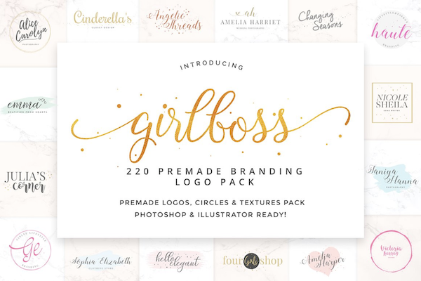 Girlboss Premade Branding Logos