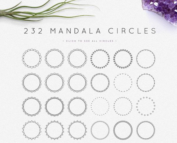 Mandala Circles Logo Creator
