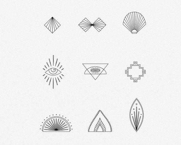 Mandala Creator Logo Elements