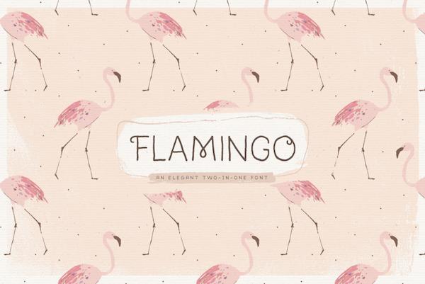 Flamingo Hand-Lettered Font