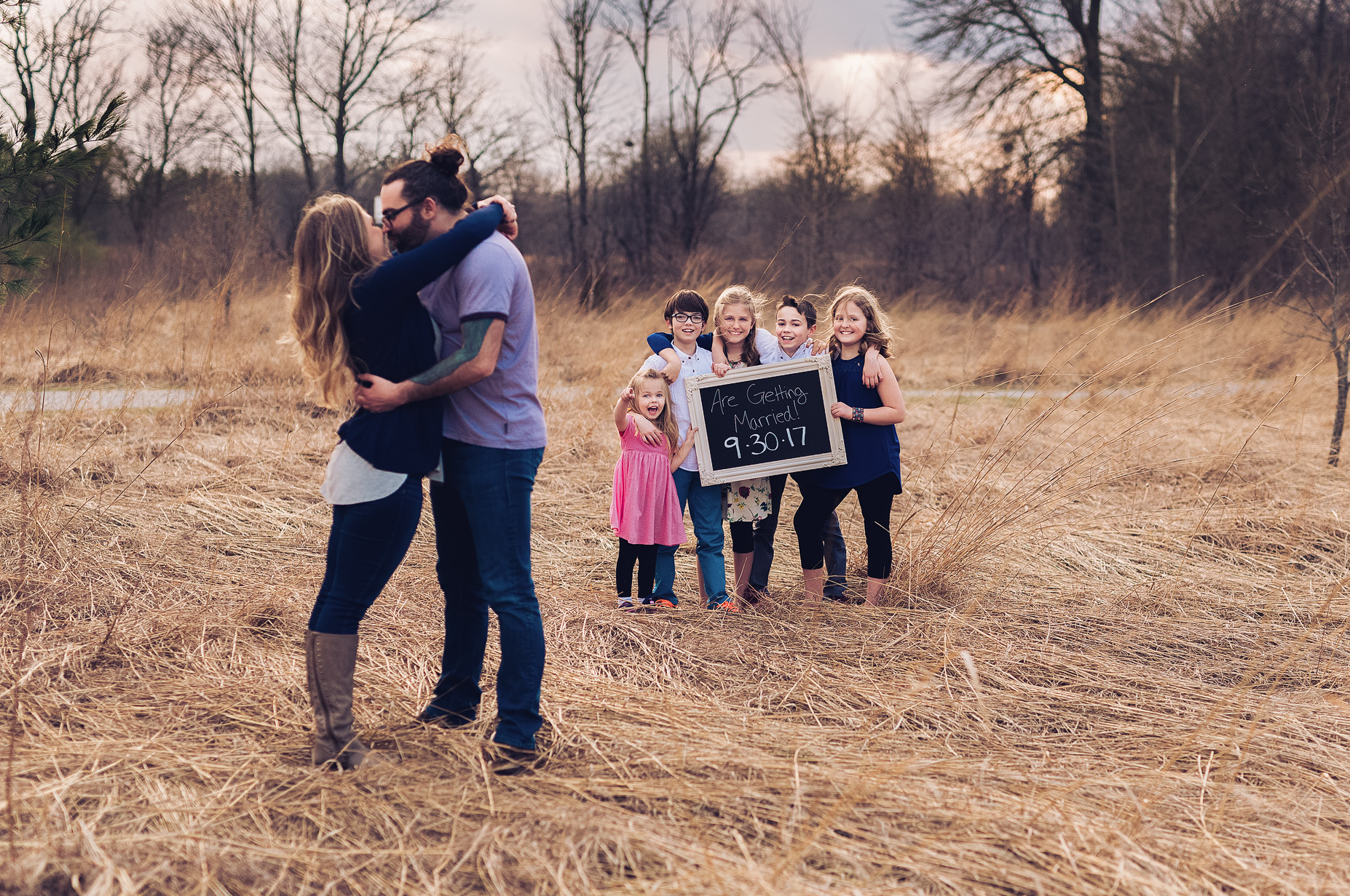 Save the Date | Blended Family| Indiana Family Photographer | Rhiannon Loyd Photography