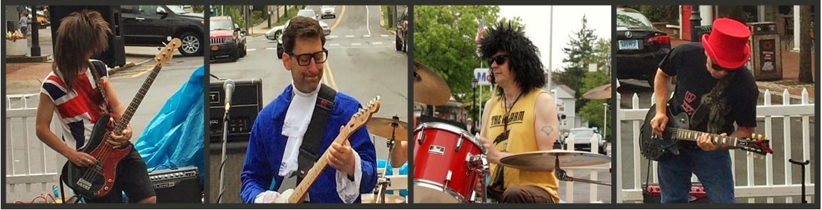 Pete - Bass                         Arthur - Vocals,Guitar and MC                 Big G - Drums                           Tim - Guitar Hero