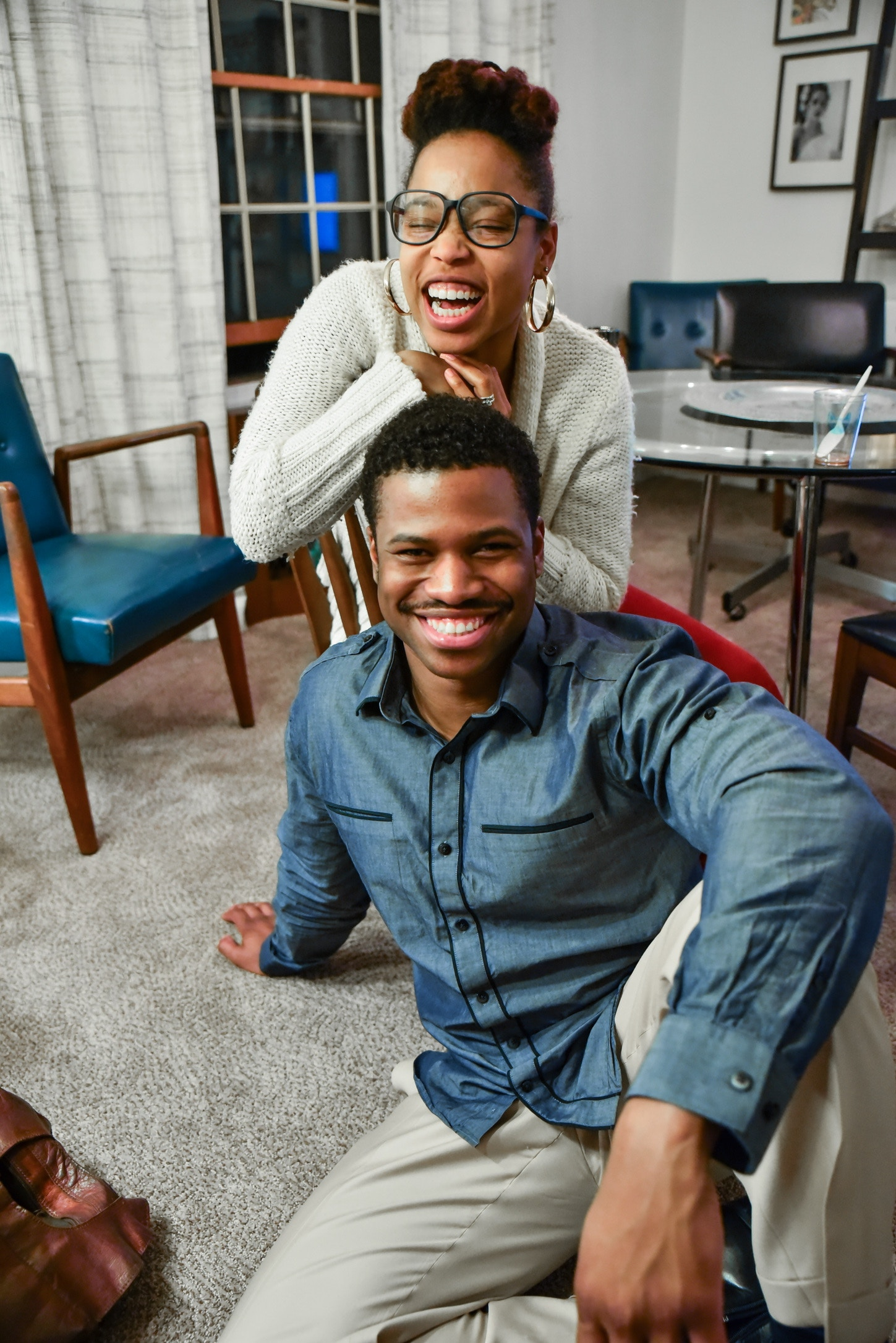 black couples laughing and smiling, couples counseling columbia mo