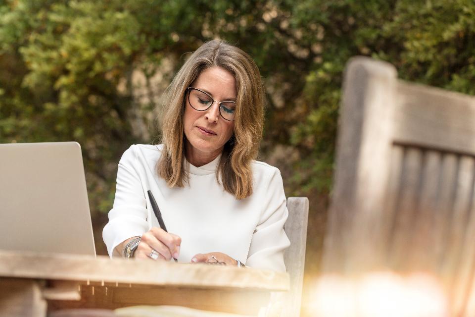 woman writing, woman, woman ending counseling