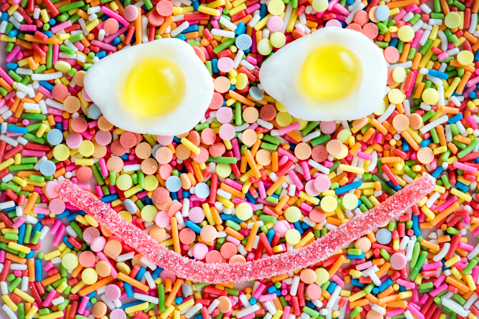 candy, eggs, smile, smiling candy