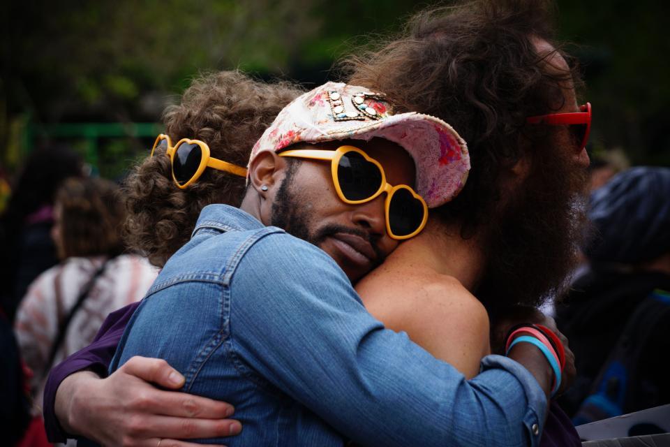 hug, love, two people hugging