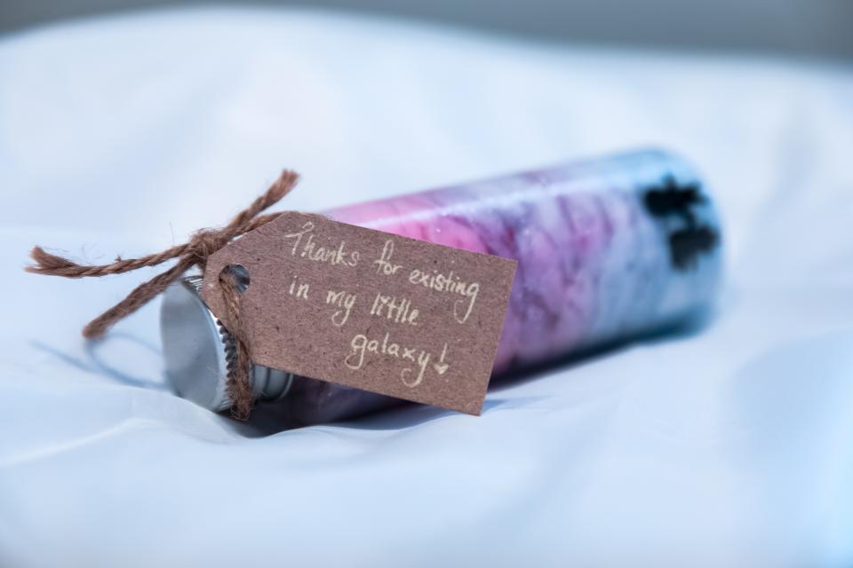 galaxy jar, jar of gratitude
