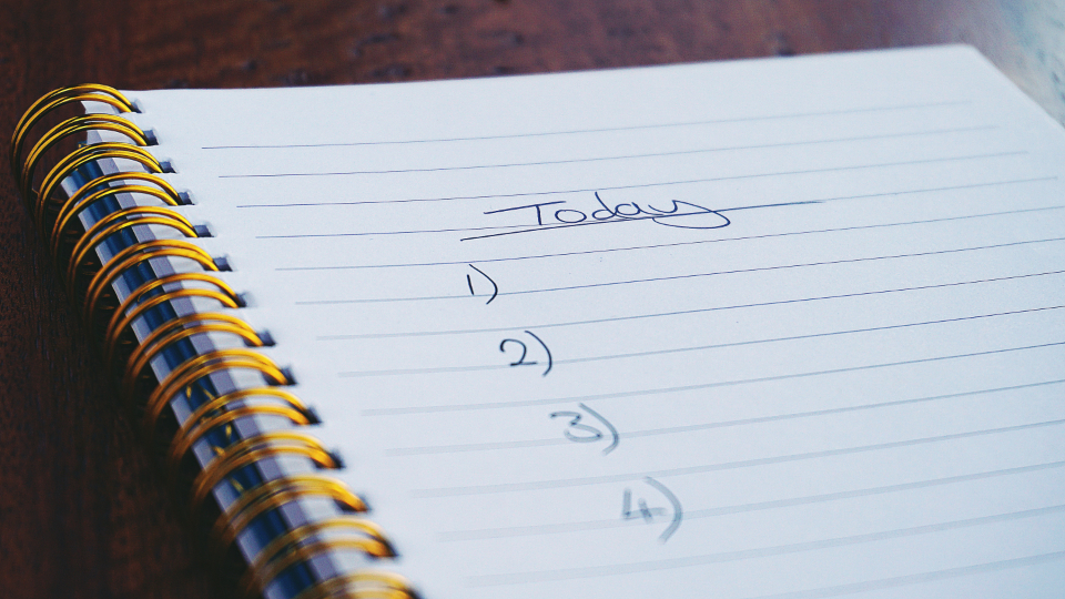 notebook, list to do, list of numbers, today