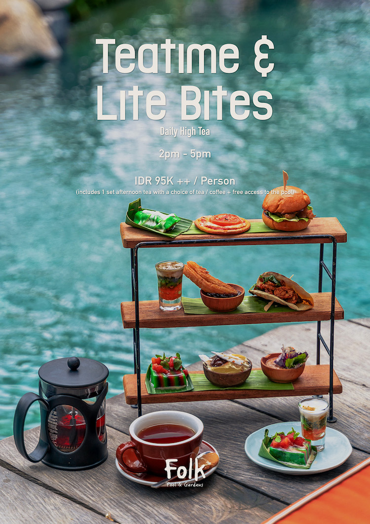 Afternoon Munch - Looking for something light and the portion just right to munch on in the afternoon? Teatime & Lite Bites would be perfect for you with every bite will scrumptiously melt you away.Available daily2-5 pmIDR 95.000 ++ per personBook here.