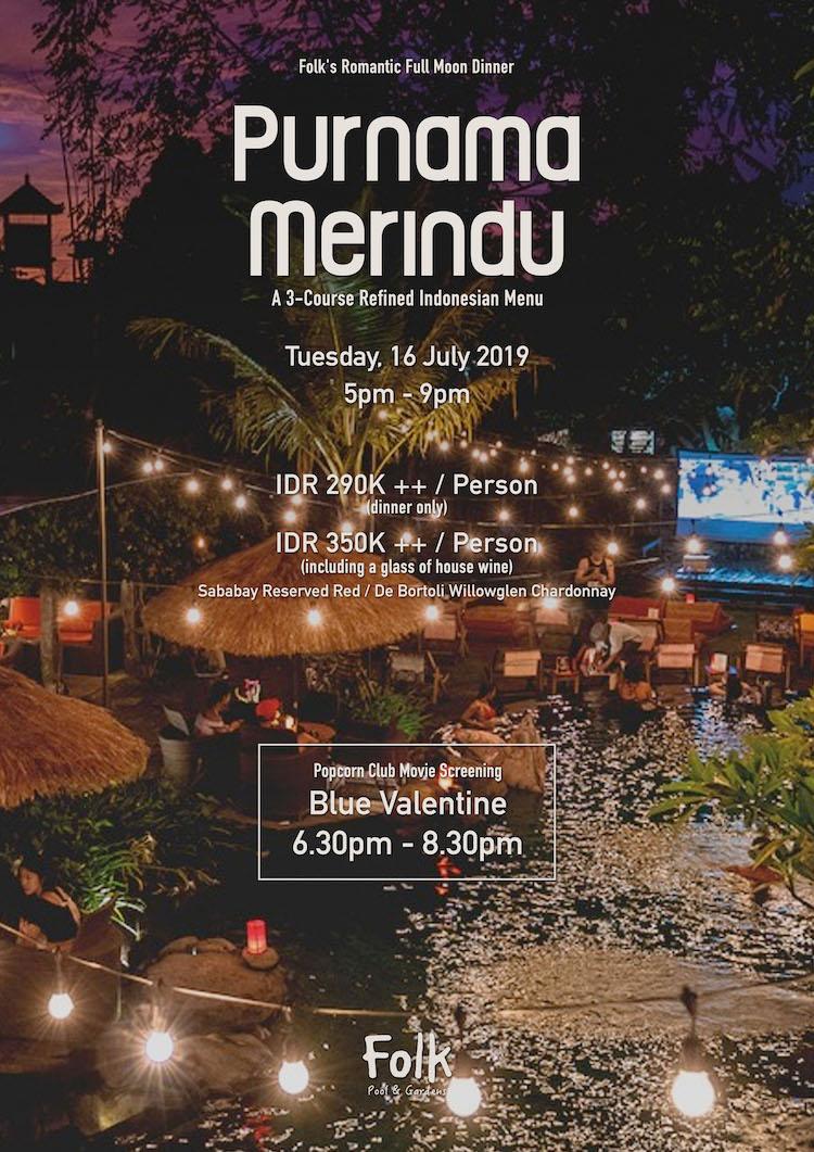 Full Moon Celebration: Purnama Merindu Dinner — Folk Pool